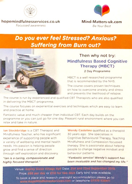 Weekend Mindfulness Retreat - Hope Therapy and Counselling Services